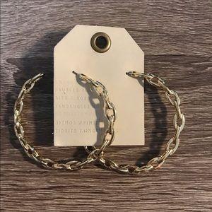 NWT Anthropologie hoop gold earrings